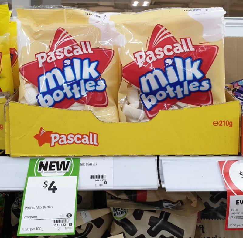 Pascall 210g Milk Bottles