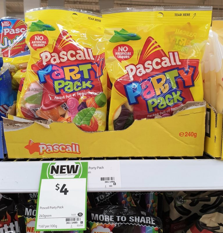 Pascall 240g Party Pack