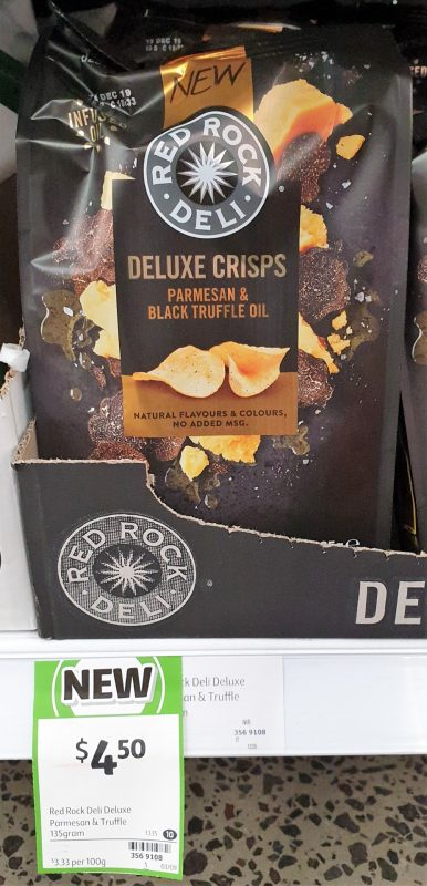 Red Rock Deli Deluxe Crisps Potato Chips Parmesan & Black Truffle Oil