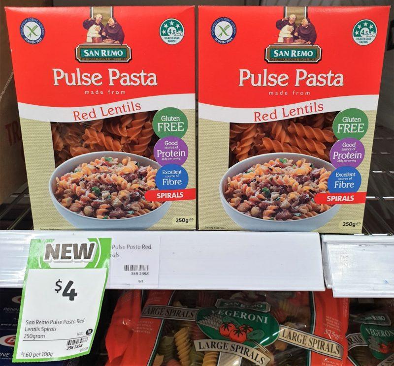 San Remo 250g Pulse Pasta Spirals Red Lentils