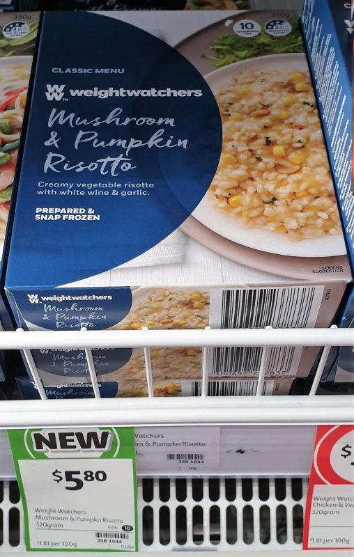 Weight Watchers 320g Classic Menu Mushroom & Pumpkin Risotto