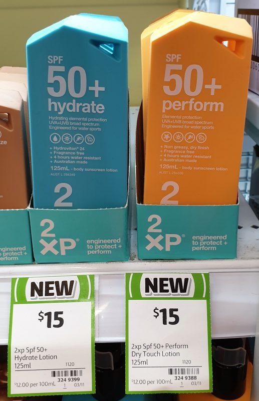 2XP 125mL Hydrate, Perform SPF 50+