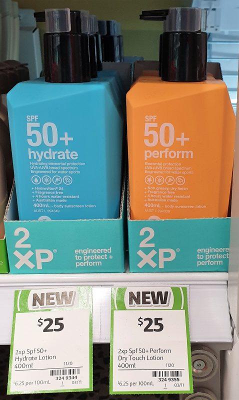 2XP 400mL Hydrate, Perform SPF 50+