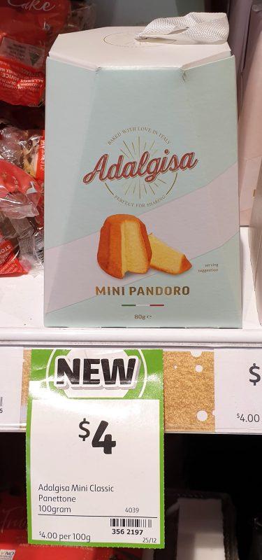 Adalgisa 100g Pandoro Mini