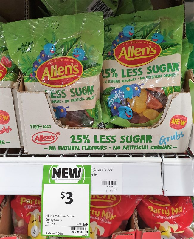 Allen's 170g 25% Less Sugar Grubs