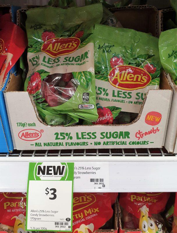 Allen's 170g 25% Less Sugar Strawbs