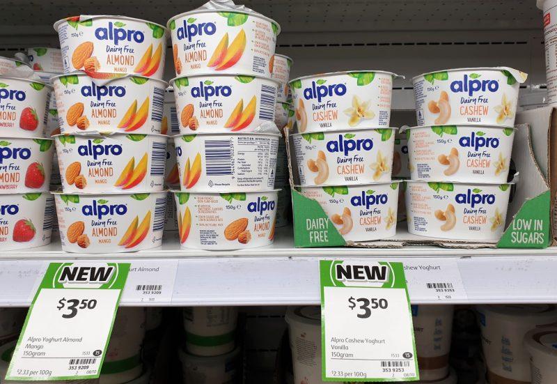 Alpro 150g Dairy Free Almond Mango, Cashew Vanilla