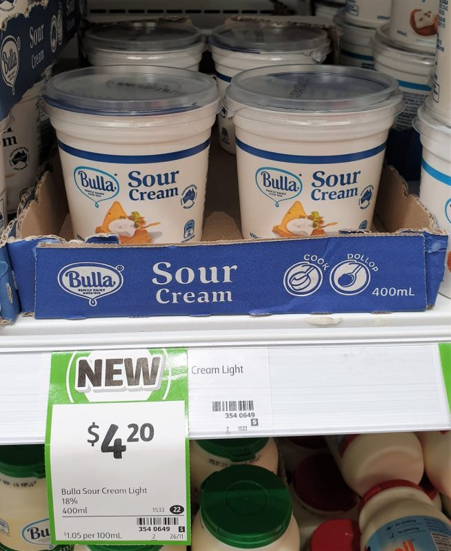 Bulla 400mL Sour Cream