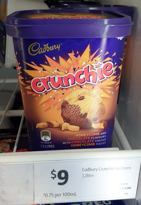 Cadbury 1.2L Ice Cream Crunchie