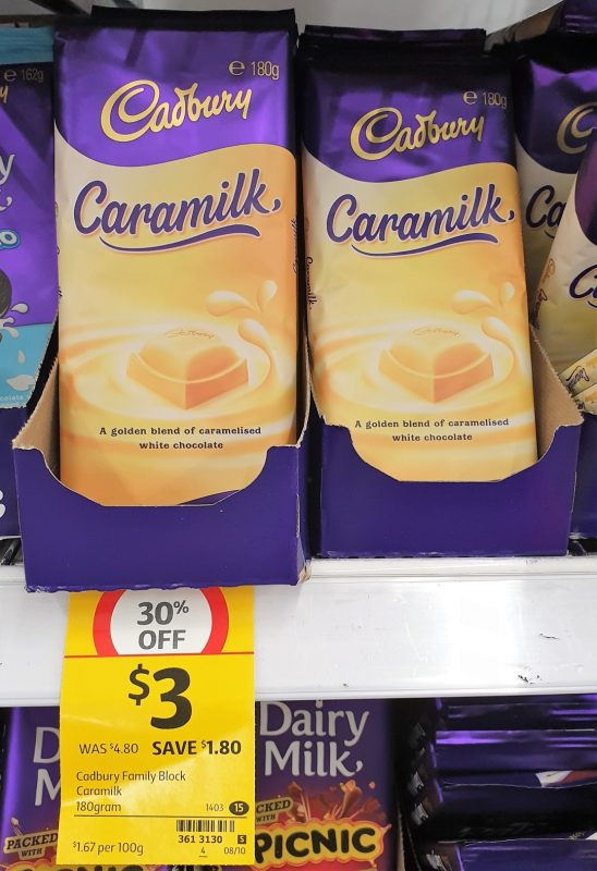 Cadbury 180g Caramilk