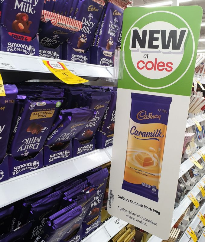 Cadbury 180g Caramilk POS