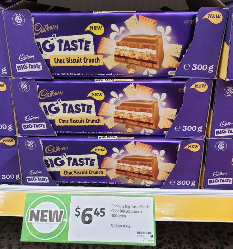 Cadbury 278g Big Taste Choc Biscuit Crunch