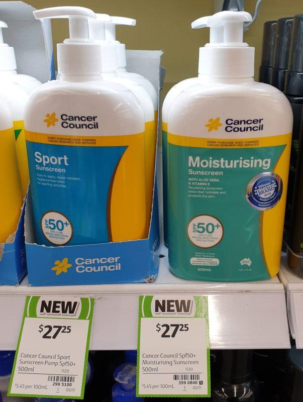 Cancer Council 500mL Sunscreen Sport, Moisturising SPF 50+
