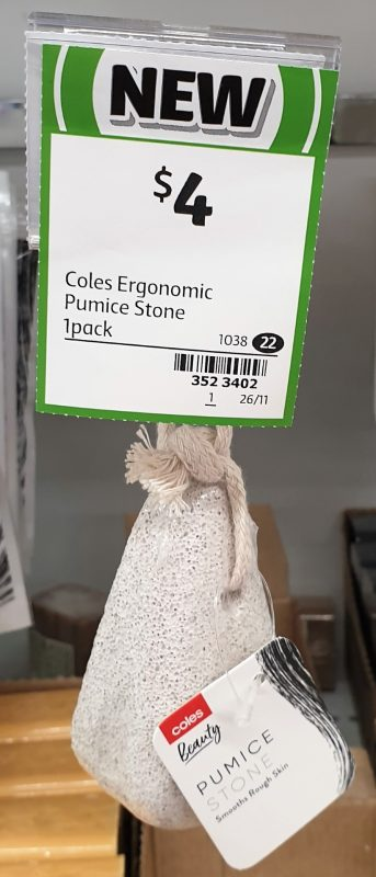Coles 1 Pack Beauty Stone Pumice