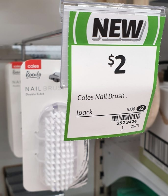 Coles 1 Pack Nail Brush