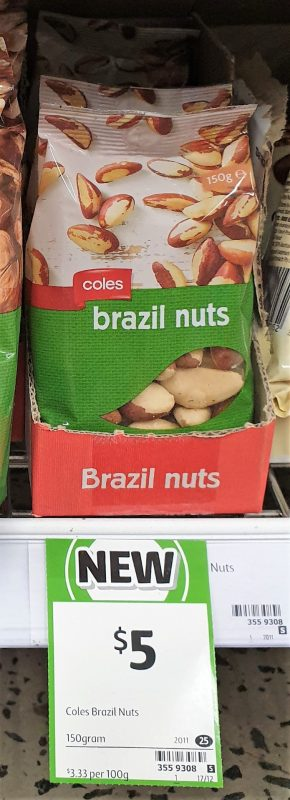 Coles 150g Brazil Nuts