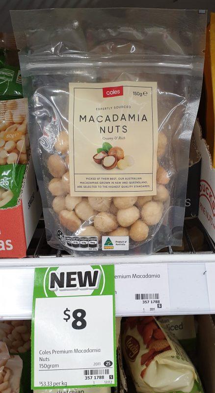 Coles 150g Macadamia Nuts