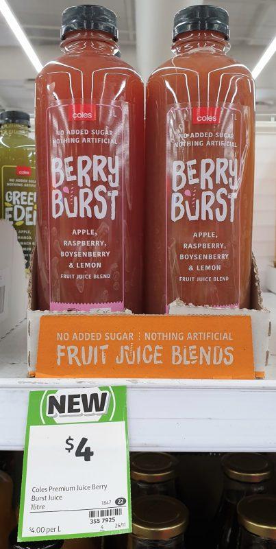Coles 1L Juice Berry Burst