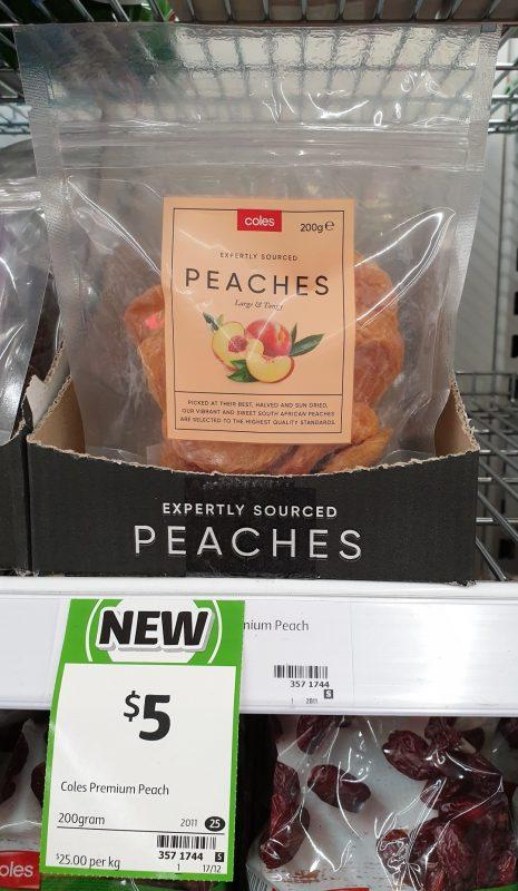 Coles 200g Peaches