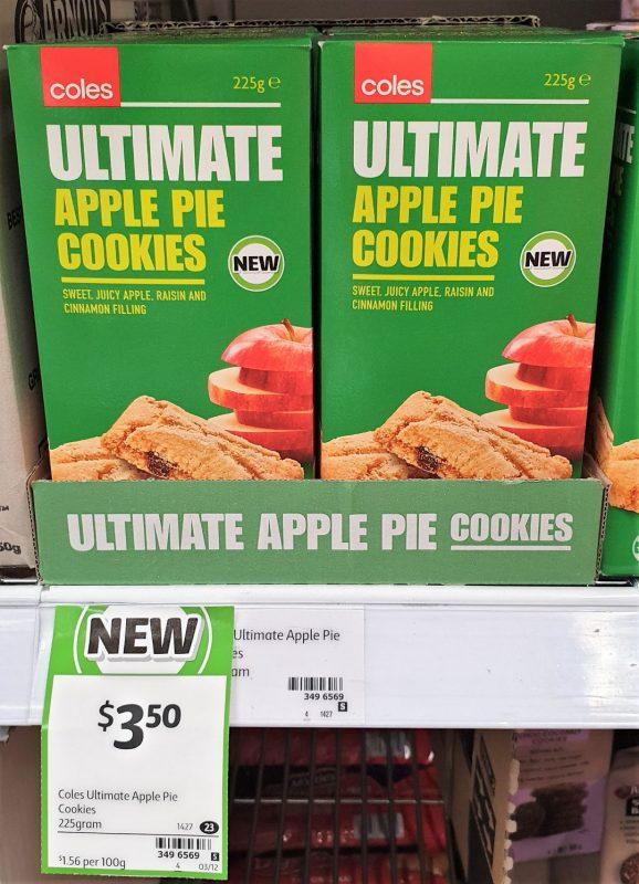 Coles 225g Ultimate Cookies Apple Pie