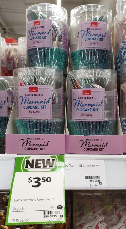 Coles 24 Pack Bake & Create Cupcake Kit Mermaid