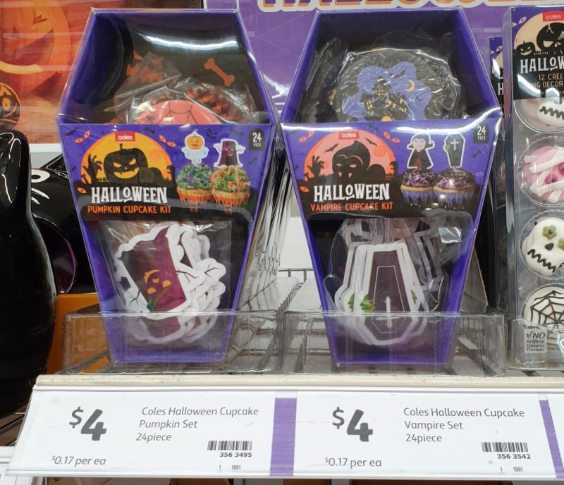 Coles 24 Pack Cupcake Kit Halloween Pumpkin