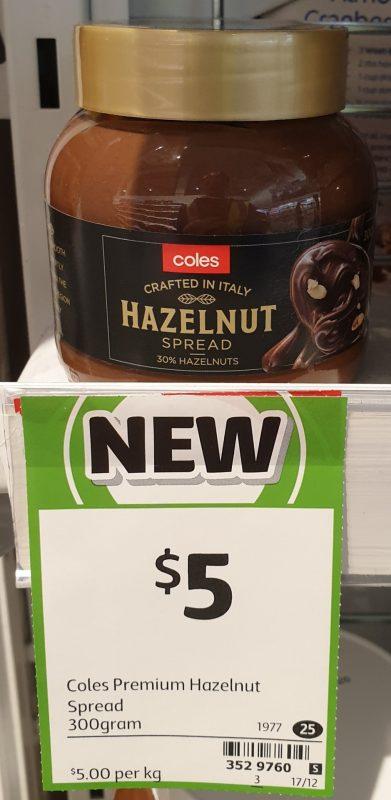 Coles 300g Spread Hazelnut