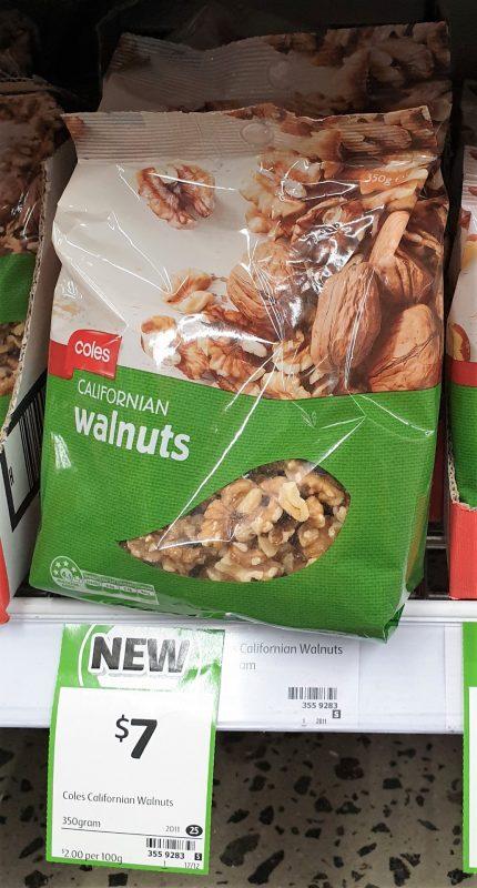 Coles 350g Walnuts Californian