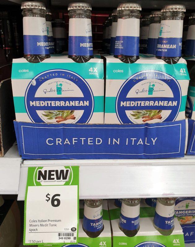Coles 4 X 200mL Italian Mixers Mediterranean