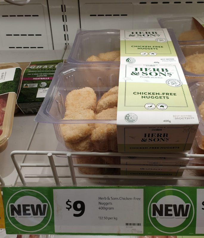 Coles 400g Herb & Sons Chicken Free Nuggets