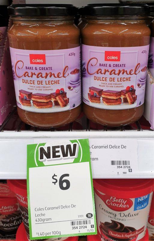 Coles 430g Bake & Create Caramel Dulce De Leche