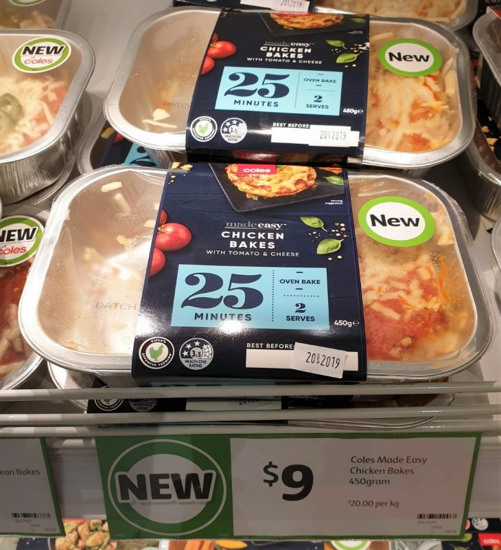 Coles 450g Made Easy Chicken Bakes