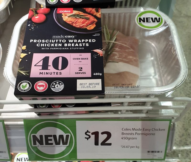 Coles 450g Made Easy Chicken Breasts Prosciutto Wrapped