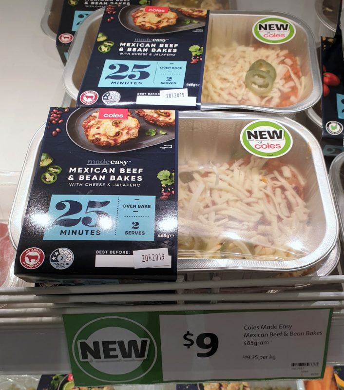 Coles 465g Made Easy Mexican Beef & Bean Bakes
