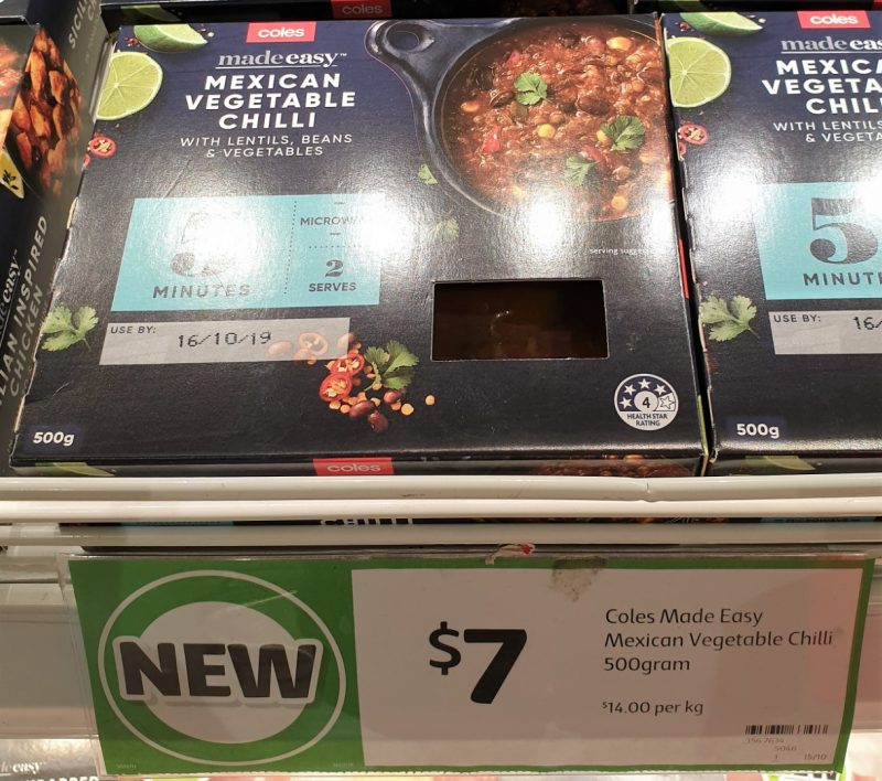 Coles 500g Made Easy Mexican Vegetable Chilli