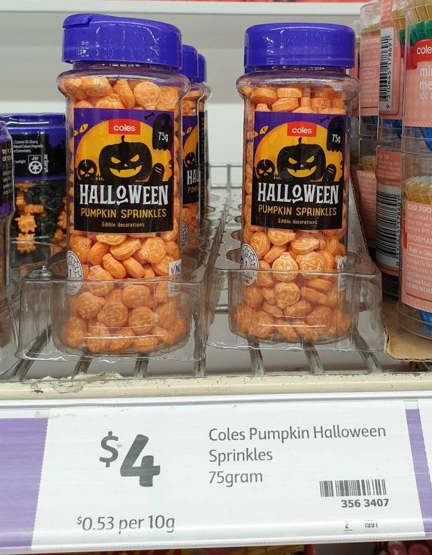 Coles 75g Spinkles Halloween Pumpkin