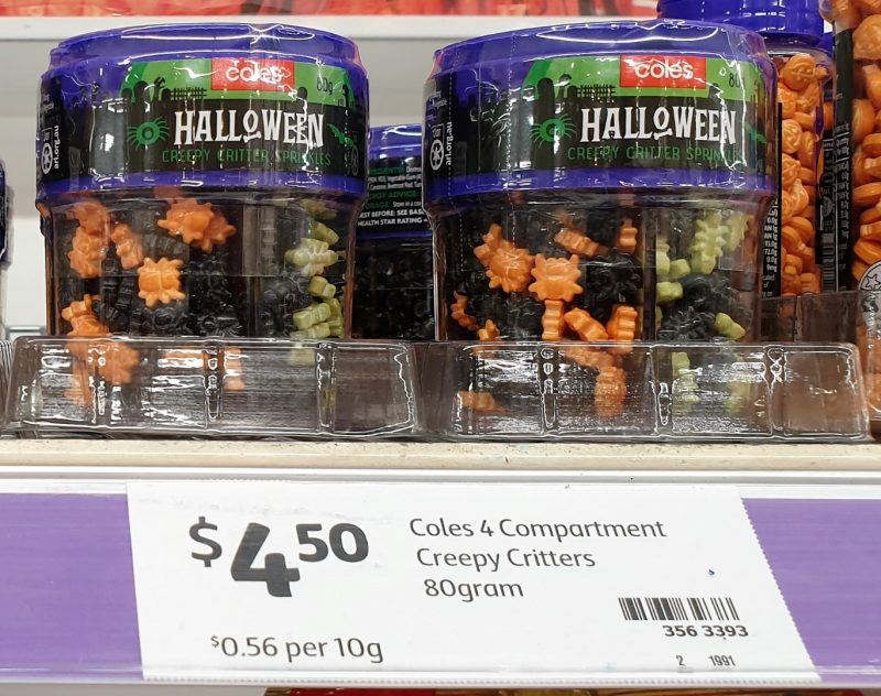 Coles 80g Spinkles Halloween Creepy Critter