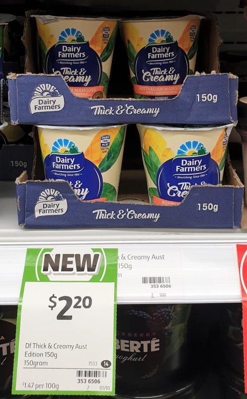 Dairy Farmers 150g Thick & Creamy Yoghurt Australian Mango