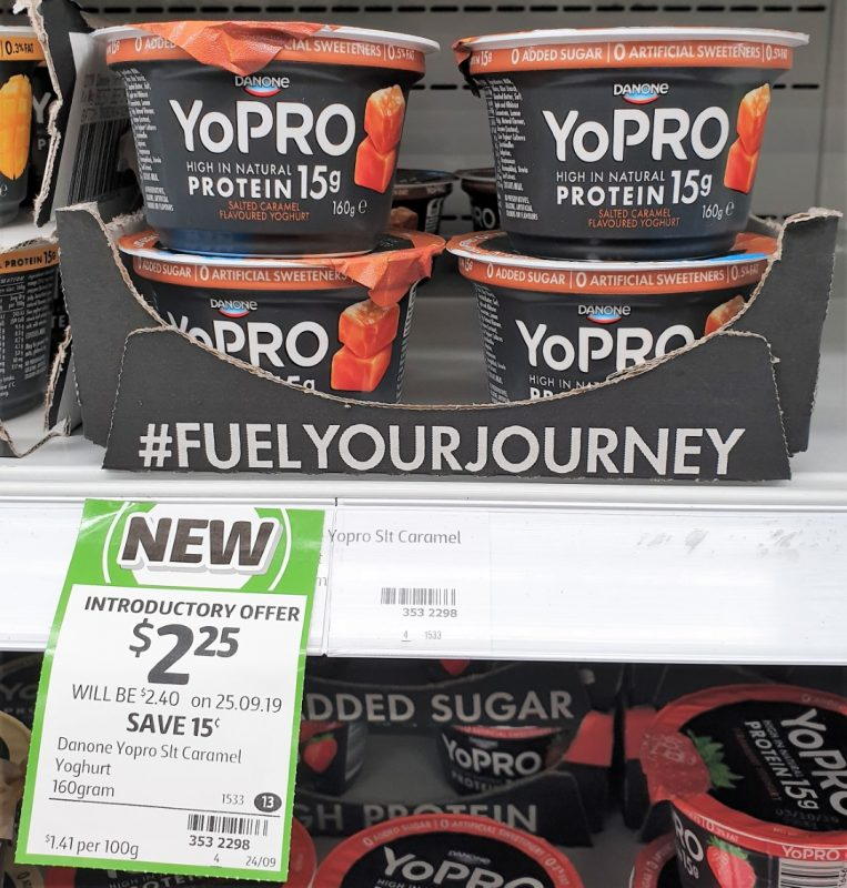 Danone 160g YoPRO Yoghurt Salted Caramel