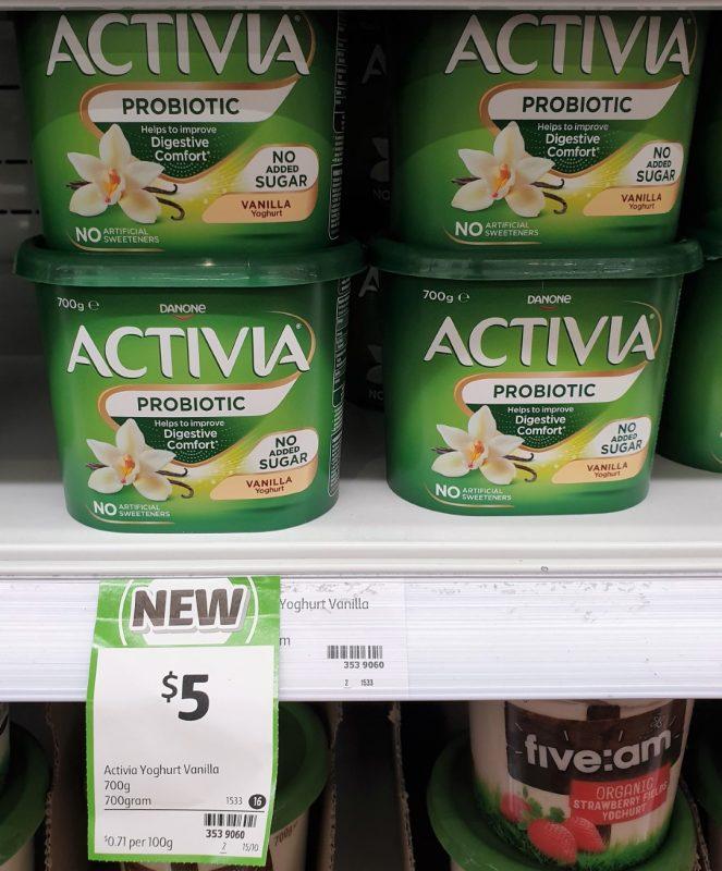 Danone 700g Yoghurt Probiotic Vanilla