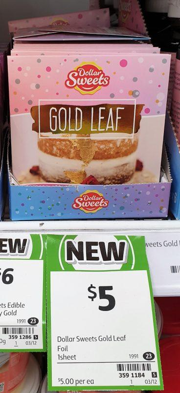 Dollar Sweets 1 Pack Gold Leaf
