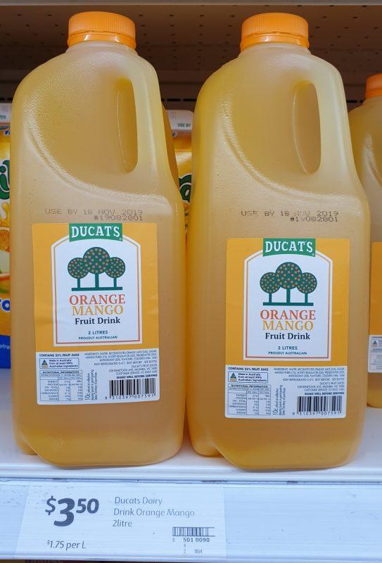Ducat's 2L Fruit Drink Orange Mango