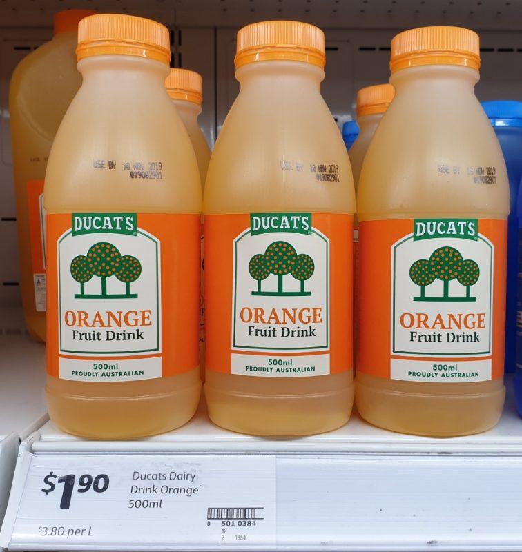 Ducat's 500mL Fruit Drink Orange