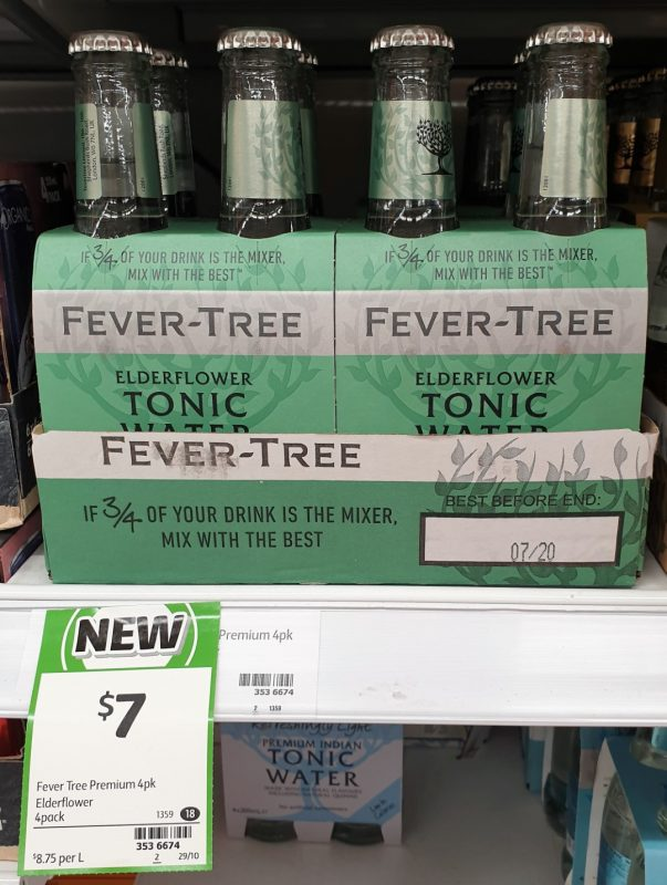 Fever Tree 4 Pack Tonic Water Elderflower