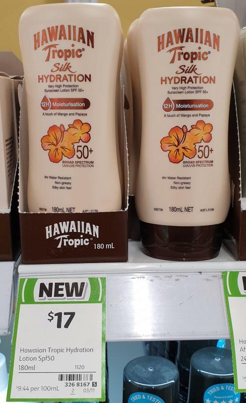 Hawaiian Tropic 180mL Silk Hydration SPF 50+