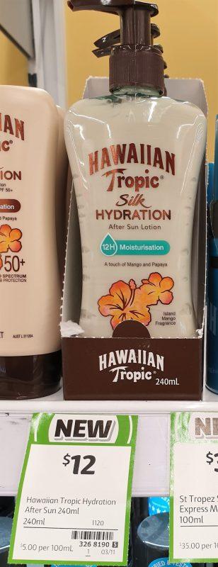 Hawaiian Tropic 240mL Silk Hydration After Sun Lotion