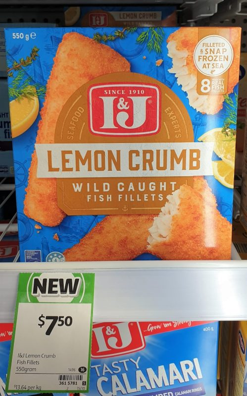 IJ 550g Fish Fillets Lemon Crumb
