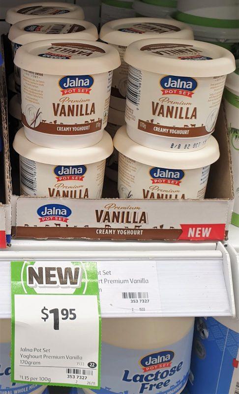 Jalna 170g Yoghurt Vanilla