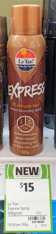 Le Tan 100mL Express Instant Bronzing Spray