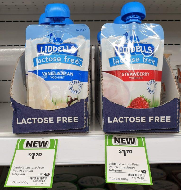 Liddells 140g Yoghurt Lactose Free Vanilla Bean, Strawberry